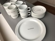 BANG & OLUFSEN TABLEWEAR XX RARE cups with dishes and pastry plates