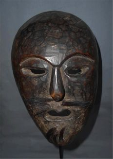 Wooden tribal Himalayan shamanic ritual dance mask - West Nepal -  19th / early 20th century