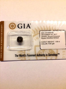 1.89ct. Natural, Fancy Dark Greenish Brown
