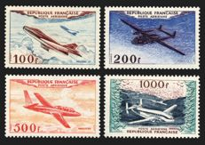 France 1954 - Airmail Prototypes complete series - Yvert no. 30/33