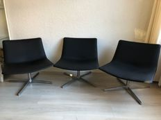 """Lievore Altheir Molina for Arper - 3 """"Catifa 80"""" lounge chairs"""