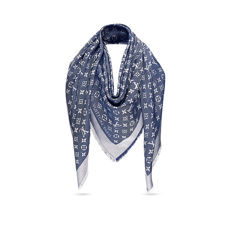 Louis Vuitton - Monogram Denim Blue Shawl