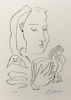 Pablo Picasso (after) - Femme lisant -  Gongora plate XII