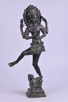 Large bronze dancing Shiva - Thailand - late 20th century (61 cm)