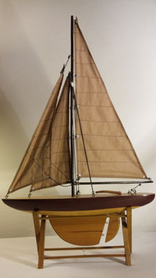 Scale model of sailing boat on stand - Elburg