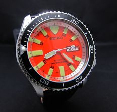 Seiko Divers 200M Red 7S26 Rotating Bezel Japan Automatic Day Date Watch-Mint