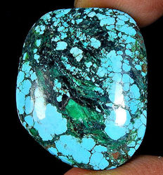 Beautiful Arizona turquoise cabochon - 26.9 ct