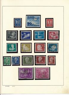 GDR – 1949 – 1962 – collection with German Chinese Friendship and almost complete on Schaubek album pages.