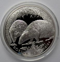 Poland – 20 Zlotych 2011 'Badger' – silver
