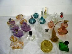 Collection of antique perfume atomizers