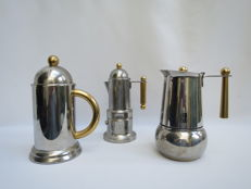 Expresso coffee pots with jug