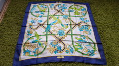 "Hermès Paris - Superb Collector's scarf ""Caraibes"", by Vauzelles in very good condition"