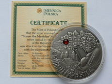 Belarus - 20 Roubles 2005 'Fairy Tales - Simon the Musician' - silver