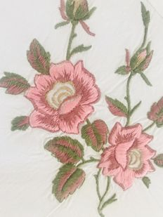 Lavish hand-embroidered double sheet