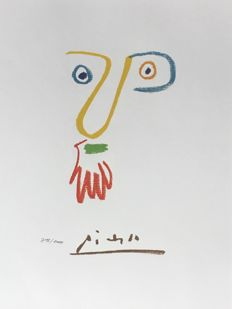 Pablo Picasso (after)  -  Visage au long nez