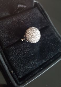 Gold ring (750‰) with diamonds for 1.20 ct