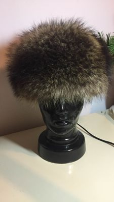 Designer baker's boy hat cap made of genuine washable fur
