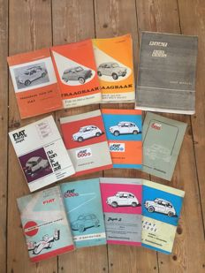 Lot Fiat 600 classic car manuals and workshop handbooks