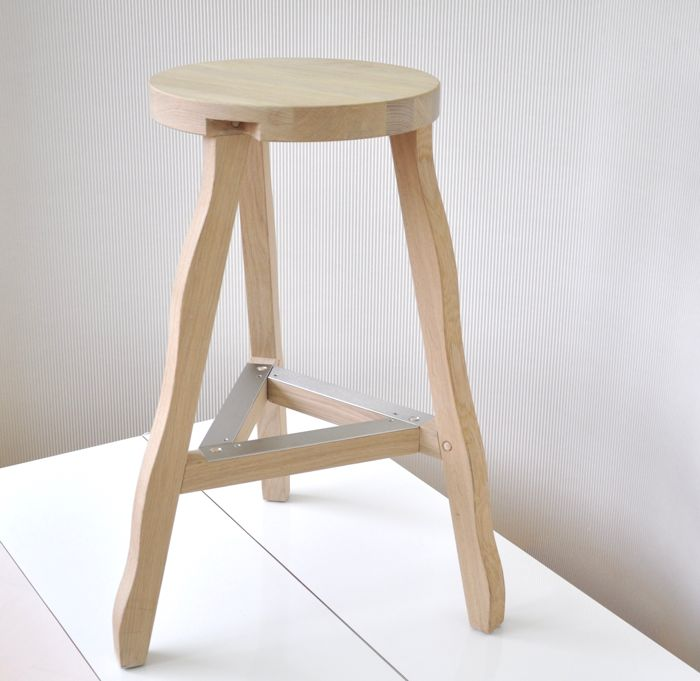 Tom Dixon For Tom Dixon High Oak Stool Model Offcut