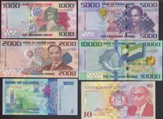 Africa - Collection of 100 different banknotes