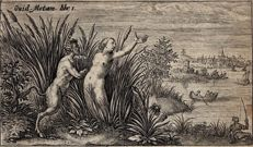 Crispijn van de Passe ( 1589-1637), Pan and the nimf Syrinx, 1602-1607