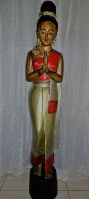 Large Sawadee lady - Thailand - mid 20th century (152 cm)