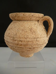 Gallo-Roman earthenware rough-walled drinking cup - 9 cm