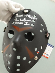 Friday the 13th - Jason Voorhees signed mask - hand signed by Jason Voorhees actor Ari Lehman