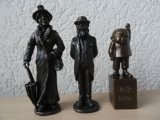 3 Gorgeous Matching Burnished Sculptures