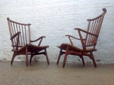 Attributed to De Ster Gelderland - two vintage armchairs