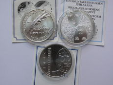 Finland - 10 euros 2002/2006 (3 different ones) - silver