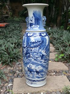 Large Vase Chinese - Blue & White - late 20th century (76 cm.)