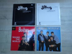 Beatles SEALED US First Live recordings VOL I en II (1979), Round the World (1986) and The Beatle Interviews ( UK 1982).