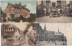 BELGIUM - 120x - small villages and towns - with scans of the front and back of all cards - quality cards