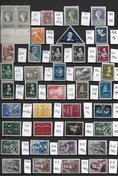 The Netherlands 1913/1948 - Collection of plate errors