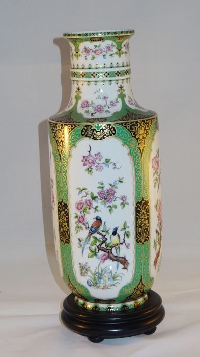 Attractive Design Mandschu - AK Kaiser W.Germany porcelain vase with Chinese  XQ74