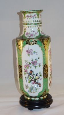 Design Mandschu - AK Kaiser W.Germany porcelain vase with Chinese decor