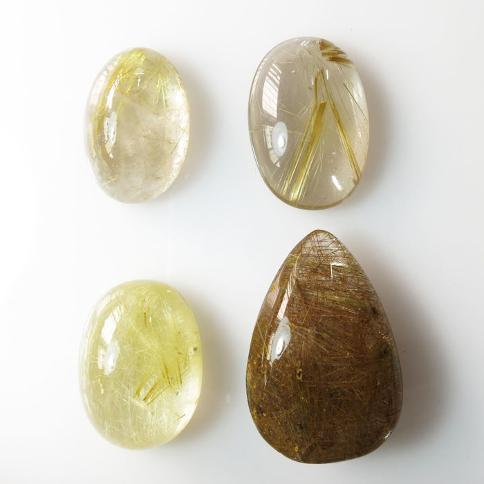 Golden Rutil quartz cabochon - 26.0 x 19.0 x 11.6 mm - 162.00 ct