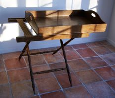 Rare 19 century Dutch tea table with removable tray
