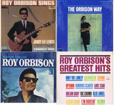 Roy Orbison - Lot of 4 original LP's: There Is Only One (USA 1965), The Orbison Way (USA 1965), Greatest Hits (New Zealand 1966) , Roy Orbison Sings (UK 1965).