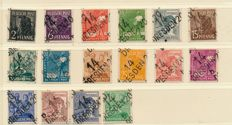 Soviet Zone – 1948 – 1949 – doubled and almost complete collection on Schaubek album pages