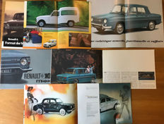 (7) Renault  brochures 8, 10 Major, 4, 8 Major, 6, Dauphine.