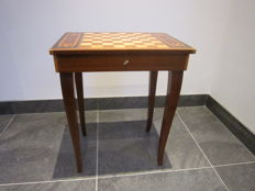 Italian chess table with music box