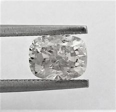 Cushion Cut  - 1.63 carat   -  SI1 clarity - F color - Natural Loose Diamond - Comes With IGL Certificate + Laser Inscription On Girdle