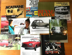 (10 )  VW  Karmann, 411, Bitter,Opel ,2CV,  Sales Brochures 1970S.