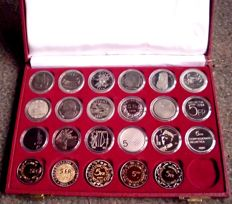 Switzerland - 5 franc commemorative coin set 1974 to 2002 - complete