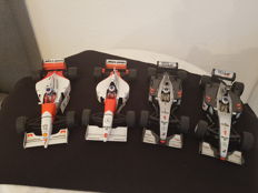 Minichamps - scale 1/18 - lot with 4 models: 4 x Mercedes-Benz, McLaren 1994, 1995, 1999, 2000