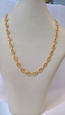 19.25 kt Gold Necklace – Weight: 22.80 g, Portuguese Workmanship