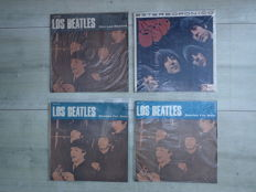 Lot of a Columbian first pressing Rubber Soul and three Uruguayan pressings.