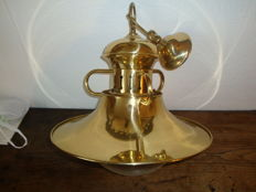 large and beautiful marine chandelier made of bright brass, as good as new